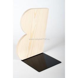 ZARÁŽKA NA KNIHY dřevo a kov