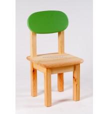 Židle Oval dětská zelené opěradlo