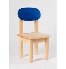 Židle Oval dětská modré opěradlo