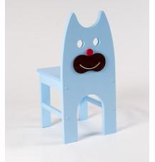 Dřevěná židle Kočka - celomodrá