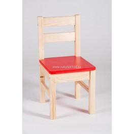 DĚTSKÁ ŽIDLIČKA KLASIK sedák červený