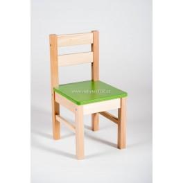 ŽIDLE KLASIK masiv, sedák - zelený