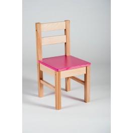 ŽIDLE KLASIK masiv, sedák - růžový
