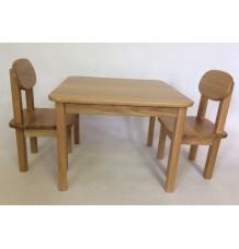 dětský stolek a 2 židličky masiv