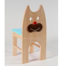 Dřevěná židlička Kočka